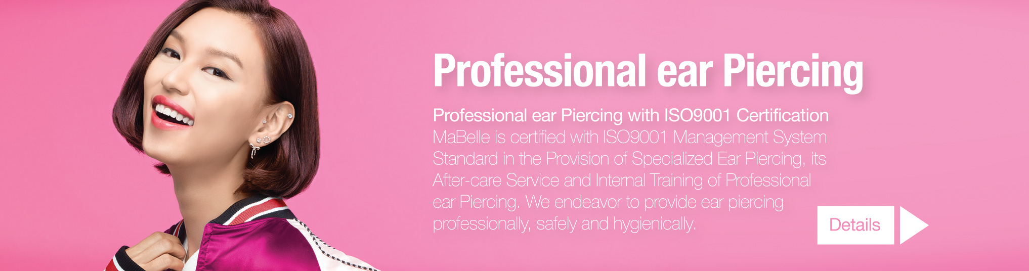 MaBelle Experience Professional Ear Piercing | Bring you Diamond Earrings, safely, gently and centered